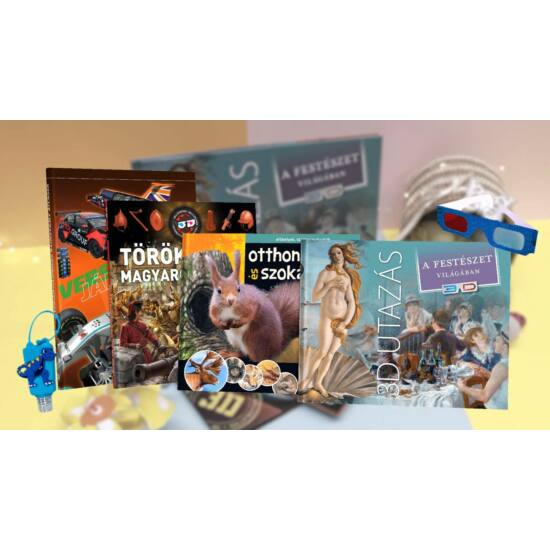 3D Húsvét csomag - 3D Utazás a festészet világában című könyvvel